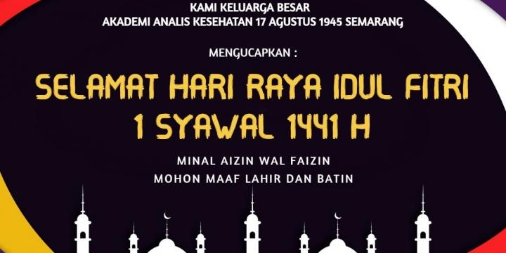 Keluarga Besar AAK 17 Agustus 1945 Semarang Mengucapkan Selamat Hari Raya Idul Fitri 1441 H